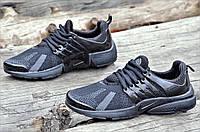 Мужские кроссовки весна лето черные популярные прочный текстиль очень легкие (Код: 1071а)