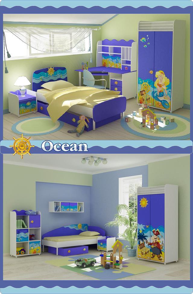 Детская комната Ocean (варианты интерьера)