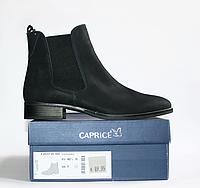 Ботинки демисезонные кожа Caprice темно-синий