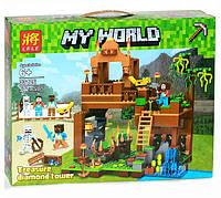 """Детский конструктор Lele Minecraft / Майнкрафт 33126 """"Башня с алмазами"""", 572 дет"""