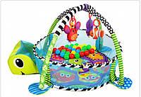 Детский манеж коврик 3 в 1 черепаха 0+ KINDEREO Польша, фото 1