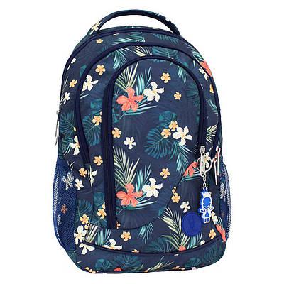 Рюкзак Bagland Бис 00556664-цветы Синий 19 л