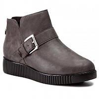 Ботинки демисезонные кожа Caprice серый