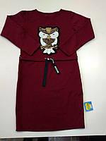 Платье-туника с паетками для девочки подростка