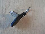 Брелок кожзам округлый KIA логотип эмблема КИА автомобильный на авто ключи комбинированный , фото 3