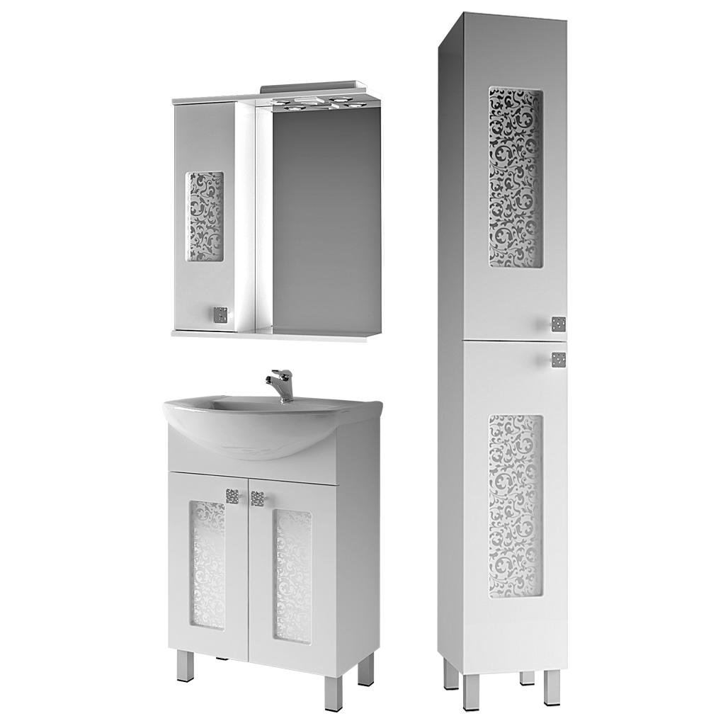 Комплект мебели для ванной комнаты Ирис 1-65-2-65 ВанЛанд