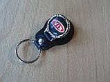 Брелок кожзам округлый KIA логотип эмблема КИА автомобильный на авто ключи комбинированный , фото 2