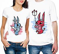 """Парные футболки """"Зайчики"""""""