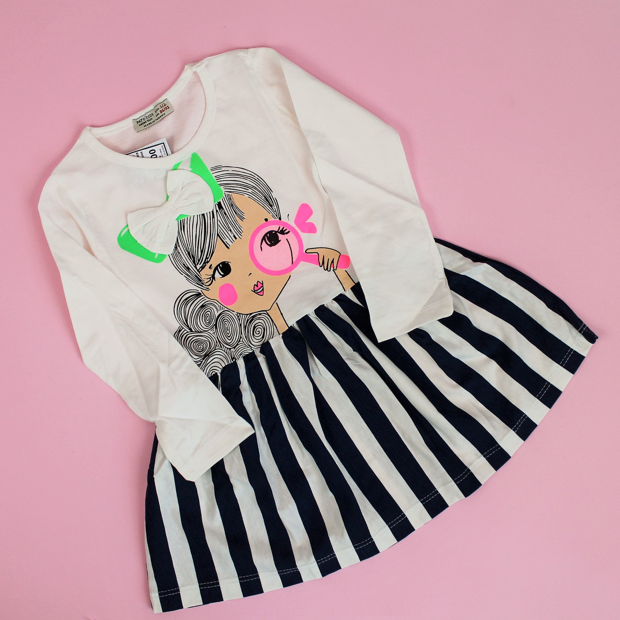 Платье длинный рукав для девочки размер 3-4 года