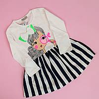 Платье длинный рукав для девочки размер 1-2/3-4 лет