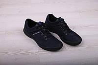 Мужские туфли из замши на шнурке синие, фото 1
