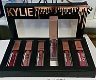 Набор матовых жидких помад Kylie Holiday Edition, 6 штук в наборе., фото 1