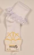 Р. 13-15 ( 0-6 мес.)  Носочки для новорожденных Bross с рюшами