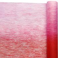 Флизелин двухцветный красный с розовым 50 см х 10 м