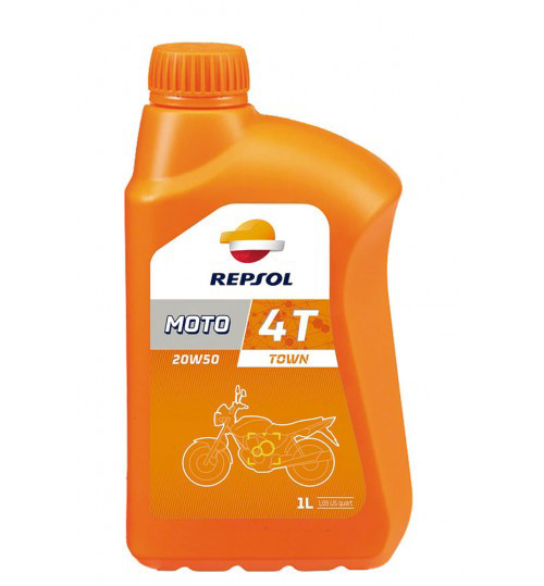 Моторное масло Repsol Moto Town 4T 20W50(1л)