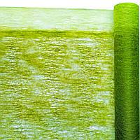 Флизелин двухцветный хаки с салатовым 50 см х 10 м