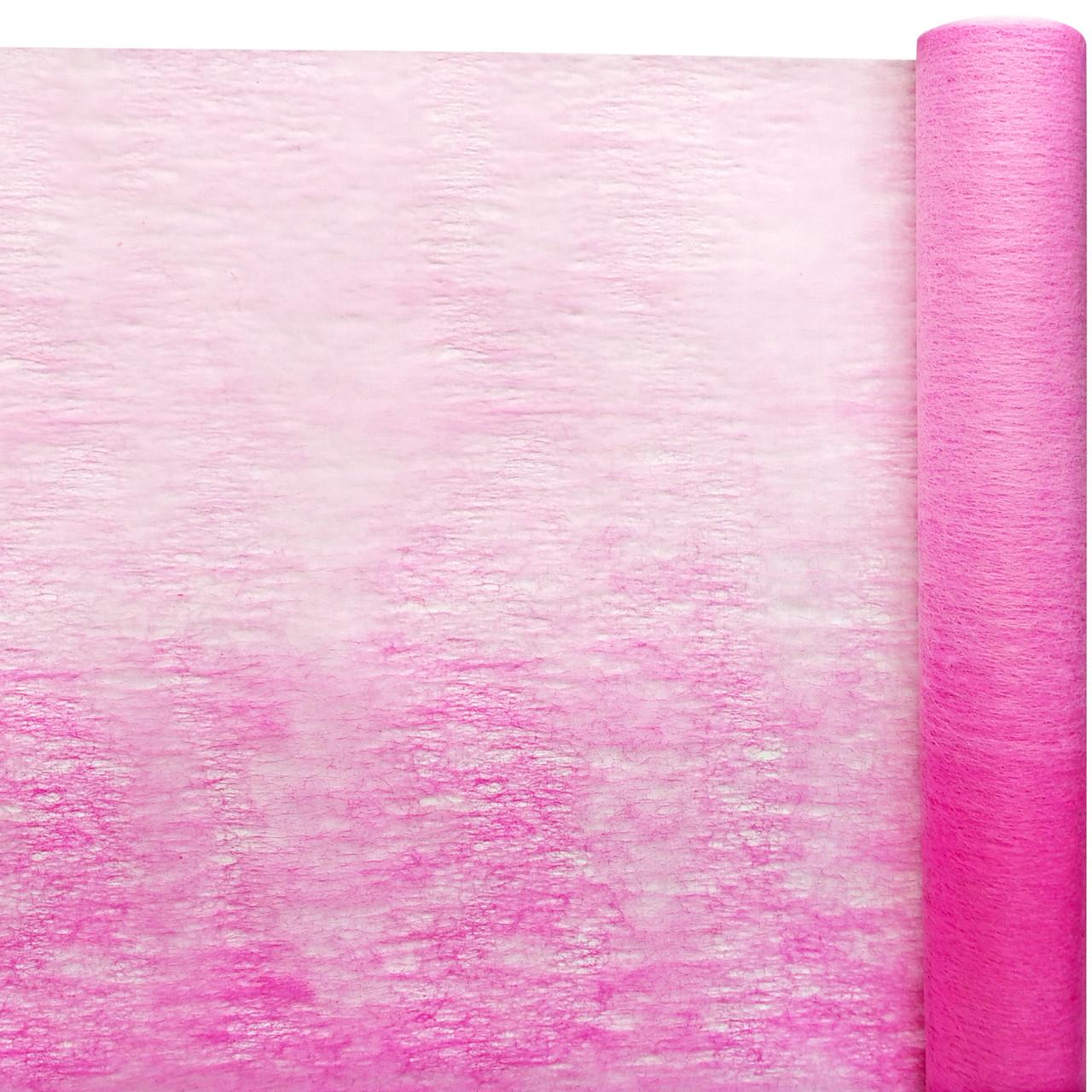 Флизелин двухцветный розовый с ярко-розовым 50 см х 10 м