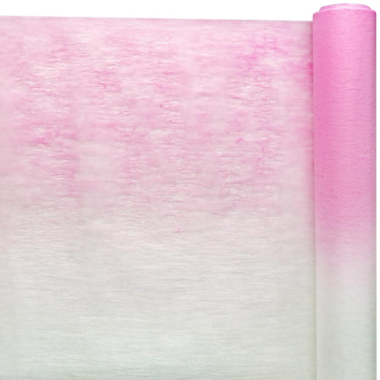Флизелин двухцветный розовый с белым 50 см х 10 м