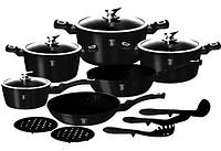 Набор посуды Berlinger Haus Metallic Line Royal Black Edition 15 предметов
