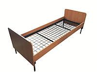 Кровать одноярусная для обжещитий ( Спинки ДСП, сварная сетка ), фото 1