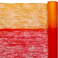 Флизелин двухцветный красный с оранжевым 50 см х 10 м