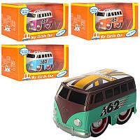 Автобус JL6315-2  металл, инер-я, 9см, 4цвета, в кор-ке, 15,5-8-9см