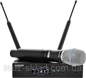Shure QLXD24B87A цифровая радиосистема UHF с ручным суперкардиоидным микрофоном