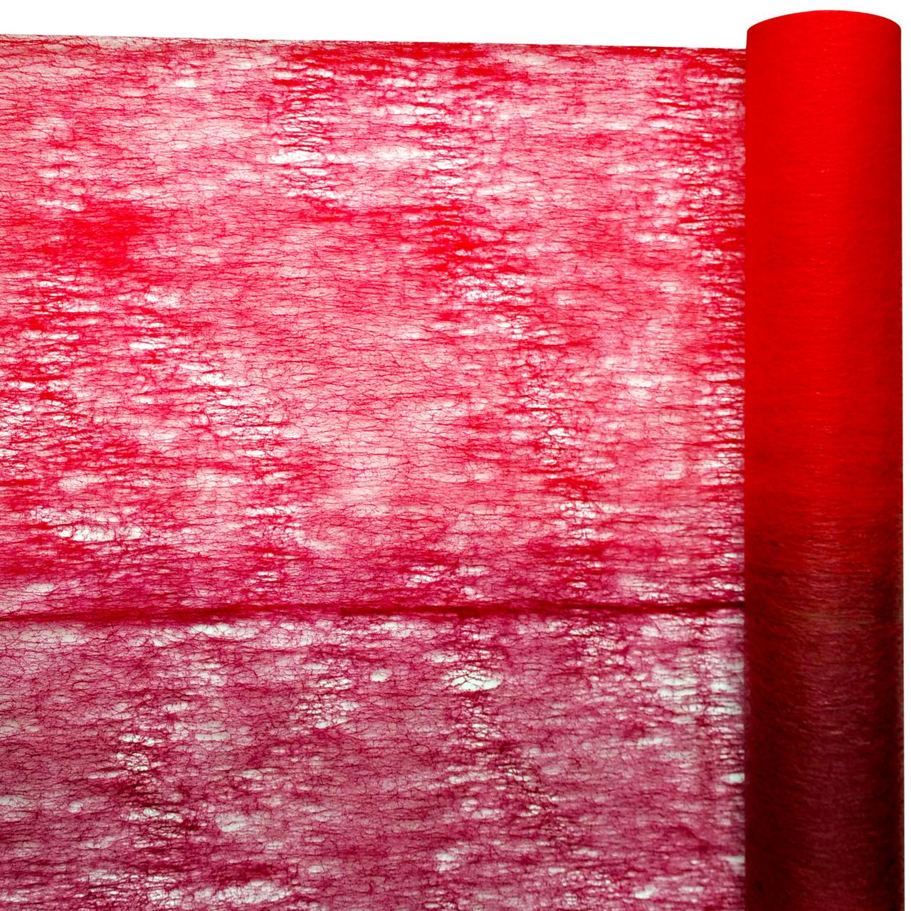 Флизелин двухцветный красный с бордовым 50 см х 10 м