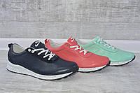 Женские кожаные туфли кроссовки Nike, три цвета! Синий, коралловый, мята (салатовый) 35, 36, 37, 38, 39, 40 р.