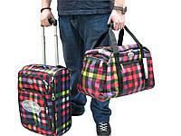 Легкий тканевый чемодан малого размера + сумка  на 2-х колесах Foxy Line Morena