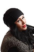 """Женская шапка """"Спейс"""" начес черный"""