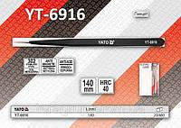 Пинцет прямой антистатический 140мм.,  YATO  YT-6916