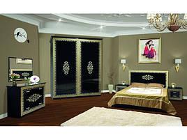 Спальня комплект з ДСП/МДФ 6Д (без матрасу та каркаса) Софія чорна Світ Меблів