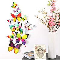Бабочки 3D цветные