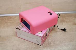 Уф лампа sk 818 36 Вт с таймером на 2 мин, розовая