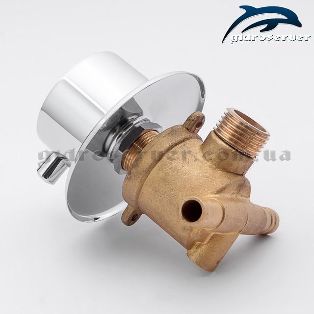 Переключатель воды для смесителей душевых кабин, гидромассажных боксов PS-02 на 2 положения.