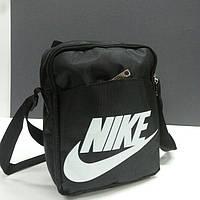 Мужская спортивная сумка- барсетка Nike . Черный , большая .201 .