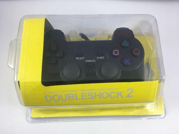 Джойстик PS2 проводной SONY label (желтый блистер), геймпад PS2