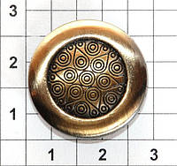 Литые кнопки для одежды AN 23 с механизмом ALFA упаковка 1000 штук