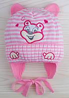 Розовая вязаная шапочка Дейл