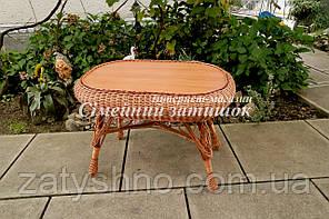 Стол обеденный плетеный кофейный