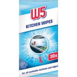 Серветки W5 Kitchen Wipes для всіх миючих поверхонь і предметів 30шт.