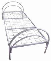 Кровать металлическая для общежитий одноярусная 1900*700