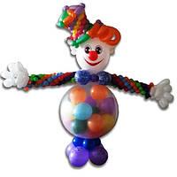 Клоун-сюрприз из шаров