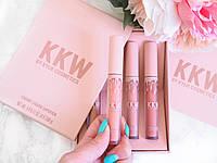 Набор помад 4 в 1 Kylie KKW Creme Liquid Lipstick, фото 1