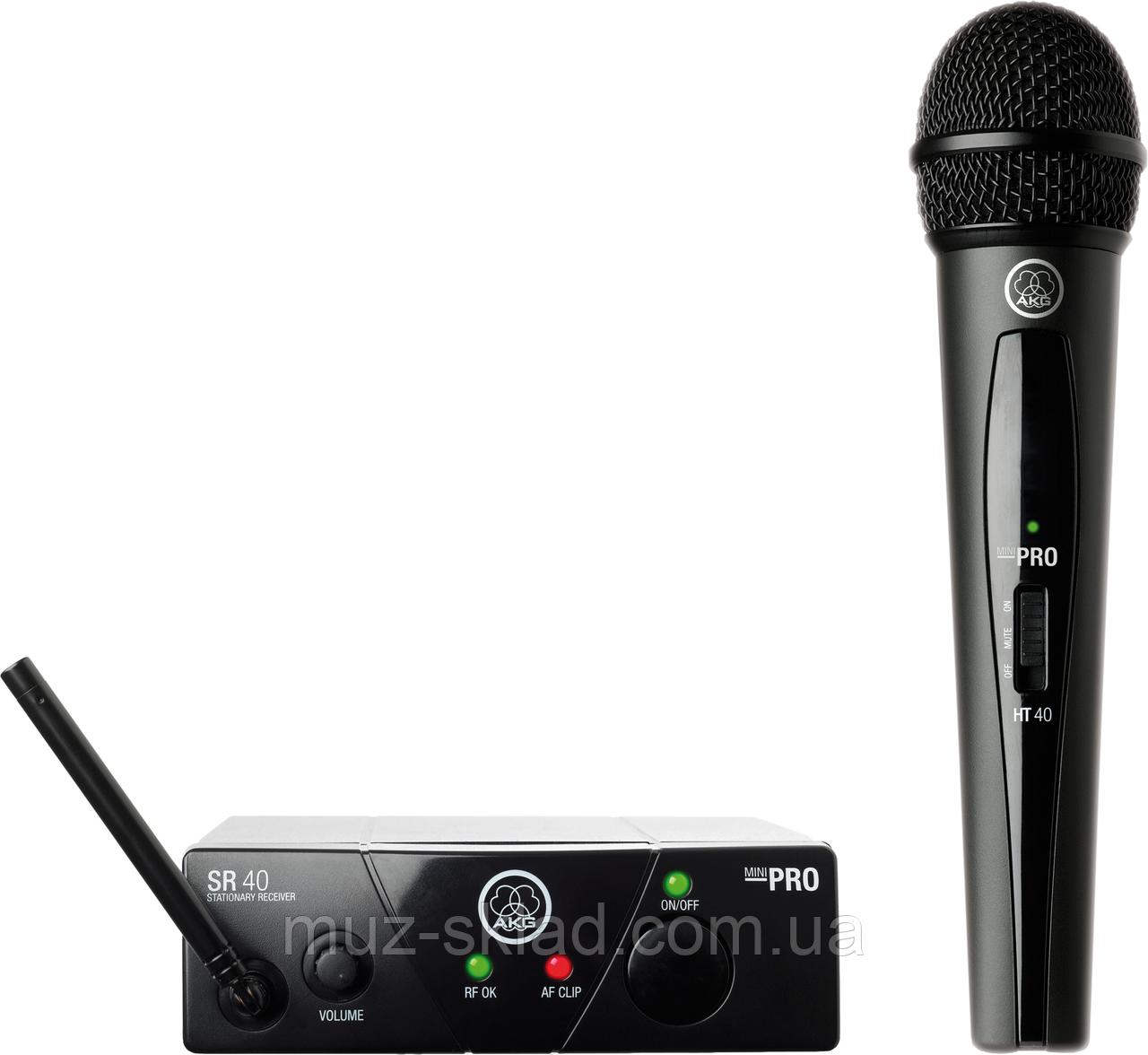 AKG WMS40 Mini Vocal Set BD US25C радиосистема UHF с ручным микрофоном