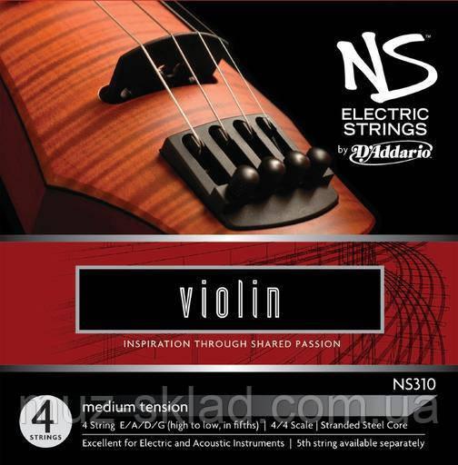 Струны для скрипки D`ADDARIO NS310 NS Electric Violin 4/4