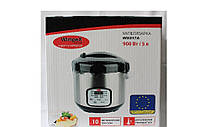 Мультиварка WIMPEX WX 517A 900W, Пароварка, Рисоварка, Wimpex объем 5л 10-программ