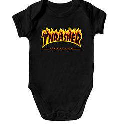 Детское боди Thrasher Fire