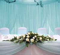 Оформление свадебного стола, украшение зала цветами и тканями, оформление свадеб шарами